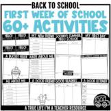 DIGITAL & PRINTABLE First Week of School Activities | Distance Learning