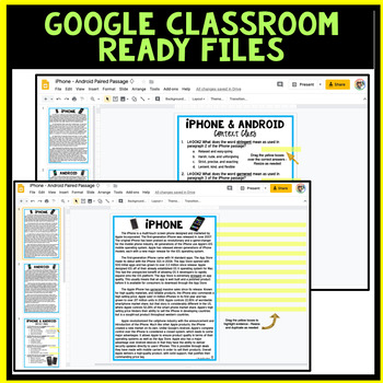 DIGITAL Paired Text (Paired Passages) - Common Core Aligned
