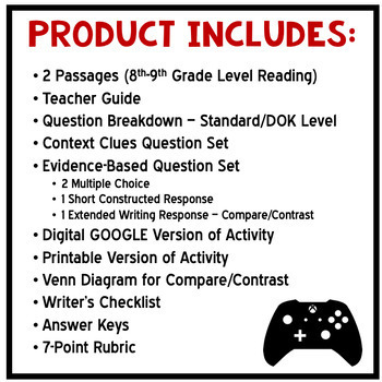 DIGITAL Paired Text Reading and Writing - Common Core Aligned