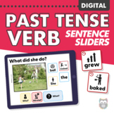 DIGITAL Past Tense Verbs Sentence Sliders for Speech Therapy
