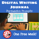 DIGITAL Persuasive Writing Prompt- One Week- For Google Slides