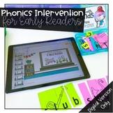 DIGITAL Phonics Intervention Bundle for Early Readers Bundle