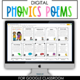 DIGITAL Phonics Poems with Audio for Google Classroom™/Slides™
