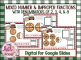 DIGITAL Pizza Mixed Number & Improper Fractions Activity f