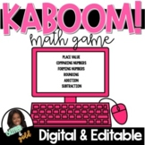 DIGITAL Place Value KABOOM Game!-DISTANCE LEARNING!