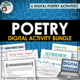 DIGITAL Poetry Activities - Writing, Analysis and Review - Distance Learning