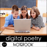 DIGITAL Poetry Notebook Grades 3-5 Distance Learning