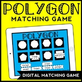 DIGITAL Polygon Matching Game, Classifying Polygons Game for Google Drive