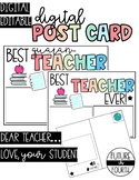 DIGITAL Postcard for TEACHERS from students