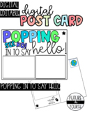 DIGITAL Postcard for students: POPPING into say hello!