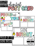 DIGITAL Postcard for students: Proud of you, Shine bright!