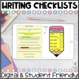 DIGITAL Primary Writing Checklists l For Google Classroom