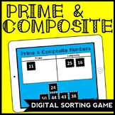 DIGITAL Prime & Composite Number Sorting Game for Google Drive, 4.OA.4