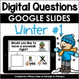 DIGITAL Questions of the Day - Winter - Distance Learning - Google- Circle Time