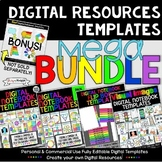 Digital Resources Templates Mega Bundle for Personal and C