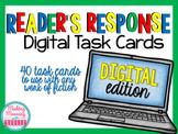Reader Response Task Cards - PAPERLESS