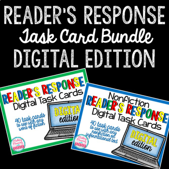 DIGITAL Reader Response Task Cards BUNDLE