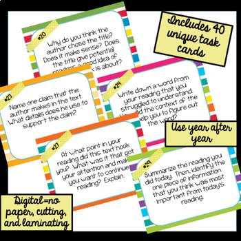 Reader Response DIGITAL Task Cards BUNDLE