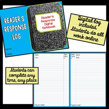 Reader Response DIGITAL Task Cards BUNDLE