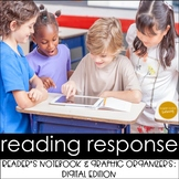 DIGITAL Reader's Response Notebook & Graphic Organizers: L