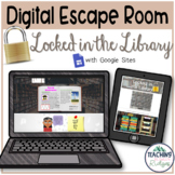 Classroom Escape Room- DIGITAL - Locked in the Library (Reading)