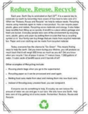 DIGITAL: Recycling Comprehension Passage & Quiz (2 Options)