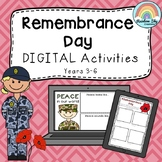 DIGITAL Remembrance Day Activities - Years 3 - 6 - paperless