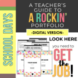 DIGITAL Rockin' Teaching Portfolio *School Days*