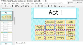 Romeo and Juliet Act IV - Literary Elements - PAPERLESS