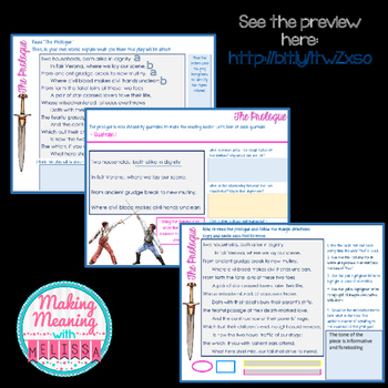 DIGITAL Romeo and Juliet Prologue - Middle and High School