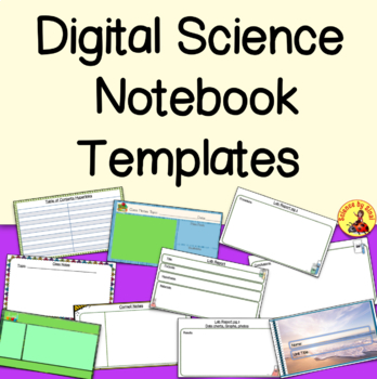 DIGITAL SCIENCE NOTEBOOK TEMPLATE Google Slides with Student Examples/ Rubric
