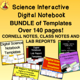 DIGITAL SCIENCE NOTEBOOK TEMPLATES BUNDLE Cornell Notes, C