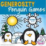 DIGITAL {PPT & GOOGLE DRIVE} SEL Lesson: Generosity Penguin Games, Grades 2-3