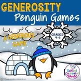 DIGITAL {PPT & GOOGLE DRIVE} SEL Lesson: Generosity Penguin Games, Grades 4-6