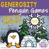 INTERACTIVE SEL {PPT & GOOGLE DRIVE}: Generosity Penguin Games, Grades K-1