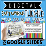 """DIGITAL SEPTEMBER THEMED """"Would You Rather..."""" JOURNAL IN"""