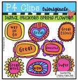DIGITAL STICKERS Spring Flowers (P4Clips Trioriginals) DIS