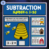 DIGITAL SUBTRACTION ACTIVITY:NUMBERS 1-20(PRIMARY)