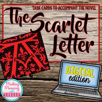 DIGITAL Scarlet Letter Task Cards - High School