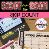 DIGITAL Scoot Around the Room SKIP COUNTING