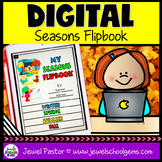 Seasons DIGITAL Flipbook (Google Classroom Distance Learni