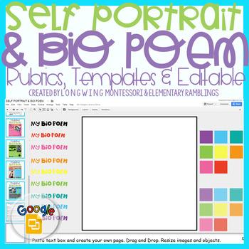 DIGITAL:Self Portrait and Bio Poem: Editable Rubrics