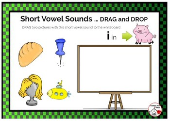 DIGITAL Short Vowel Sounds ... DRAG and DROP, Grades K-1-2 BOOM Internet™ Cards