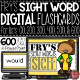 DIGITAL Sight Word Flash Cards for Fry Sight Word Lists 10
