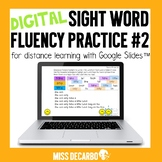 DIGITAL Sight Word Fluency Practice Pack #2 for Distance Learning
