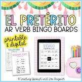 Spanish Preterite Tense AR Verbs Activity - BINGO - Distance Learning