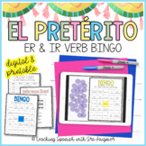 Spanish Preterite Tense Er and Ir Verbs Game - Distance Learning