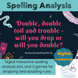 DIGITAL Spelling Analysis activities + Games - The Droppin