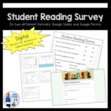 DIGITAL Student Reading Interest Survey | Google Slides &