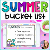 DIGITAL Summer Bucket List - using Google Slides for Distance Learning